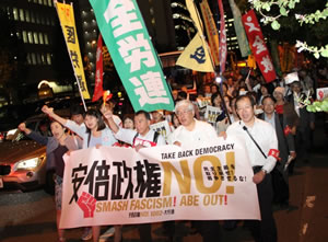 「安倍政権を絶対許さない!」    2万人が大行進